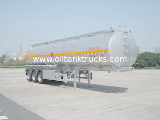 چین 46000L Aluminum Alloy 3 Axles Diesel Oil Tank Trailer , Light Gasoline Trailer تامین کننده