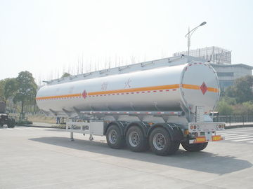 چین 3x12T BPW axle 46000L Aluminum Alloy Petroleum Mobile Fuel Tank Trailer توزیع کننده